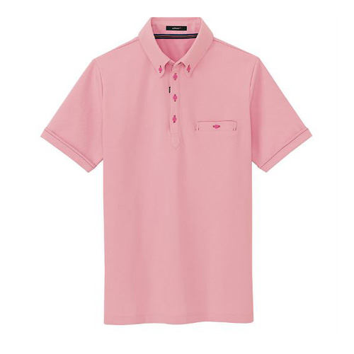 AZ-7667 半袖ポロシャツ 160/ピンク