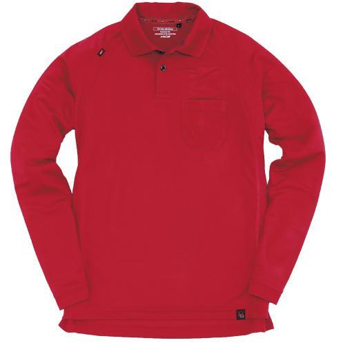 BURTLE103 長袖ポロシャツ カラー:レッド