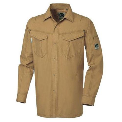 SOWA575 長袖シャツ[社名刺繍無料] 81/ブラウン