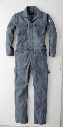 CUC8590 DOGMAN長袖ツナギ 17/インディゴブルー