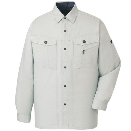 DESK47704_1 長袖シャツ[社名刺繍無料] カラー:シルバー
