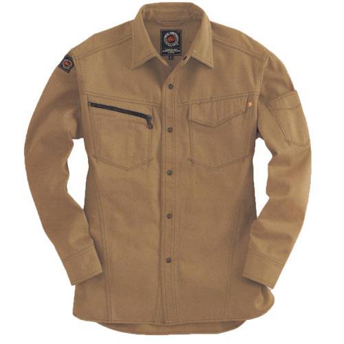 BURTLE5205 長袖シャツ[社名刺繍無料] カラー:キャメル