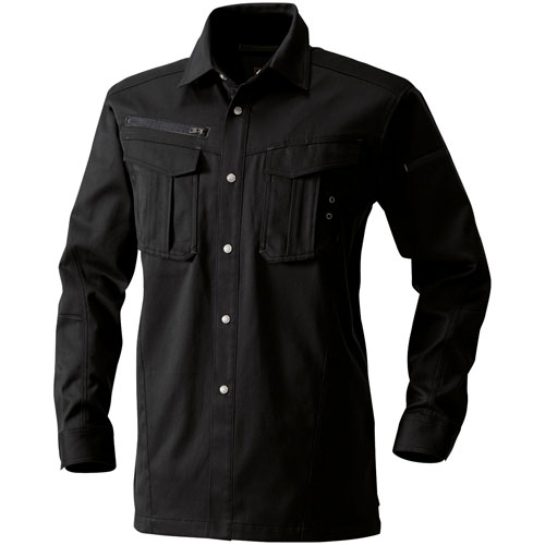 SOWA8115 長袖シャツ[社名刺繍無料] 4/ブラック