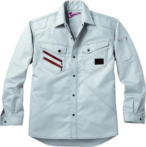 DESK52304 Jawin長袖シャツ[社名刺繍無料] 036/シルバー