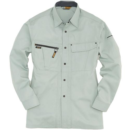 BURTLE6063_1 長袖シャツ[社名刺繍無料] 1/アースグリーン