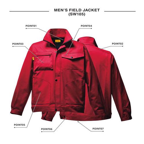 SWW-SW105 メンズフィールドジャケット[社名刺繍無料]