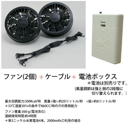 基本電池ボックスセット(RD9263電池ボックス + ファン + ケーブル)