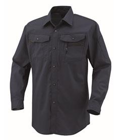 COCOS-AS-938_1 立体カット長袖シャツ[社名刺繍無料] 1/ネイビー