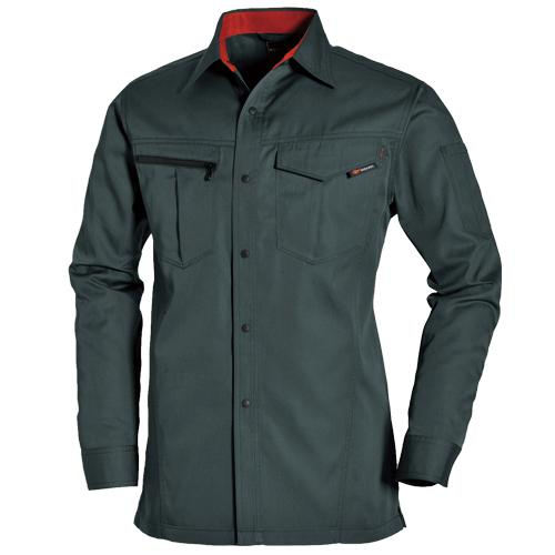 BURTLE6083_1 長袖シャツ[社名刺繍無料] カラー:クーガー
