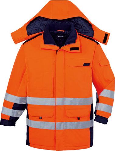 DESK48473 高視認防水防寒コート(フード付) 076/オレンジ