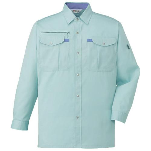 DESK45004_1 長袖シャツ[社名刺繍無料] カラー:アースグリーン
