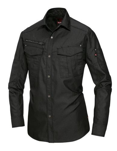 BURTLE5515HB 長袖シャツ[社名刺繍無料] 35/ブラック