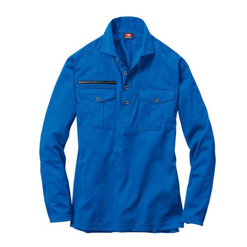 BURTLE705 長袖シャツ[社名刺繍無料] 47/ブルー