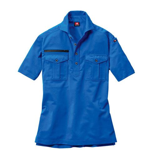 BURTLE707 半袖シャツ[社名刺繍無料] 47/サーフブルー