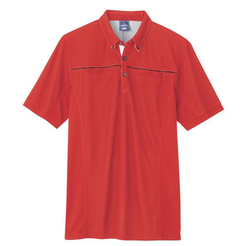 AZ-551044 遮熱半袖ポロシャツ(男女兼用) 009/レッド