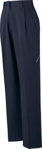 DESK82806 製品制電ストレッチレディースワンタックカーゴパンツ 011/ネービー