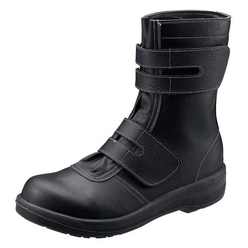 シモン安全靴7538 黒 長編上靴マジック付