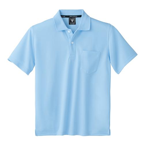 XEB6030 吸汗速乾半袖ポロシャツ 42/サックス