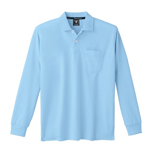 XEB6035 吸汗速乾長袖ポロシャツ 42/サックス