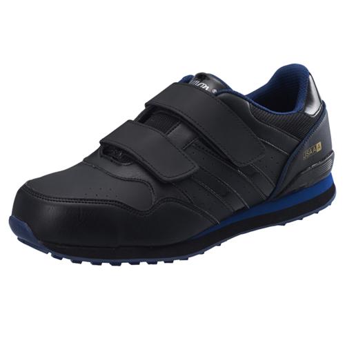 シモン安全靴 NS818 黒/ブルー プロスニーカー(マジック)
