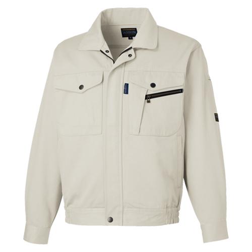 TAKA_LB-1100 国産綿100% 長袖ブルゾン[社名刺繍無料] 3/ストーングレー