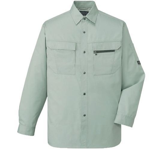 DESK46204_1 長袖シャツ[社名刺繍無料] カラー:アースグリーン