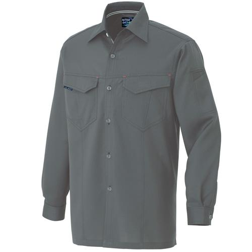 AZ11202 長袖シャツ[社名刺繍無料] カラー:チャコール