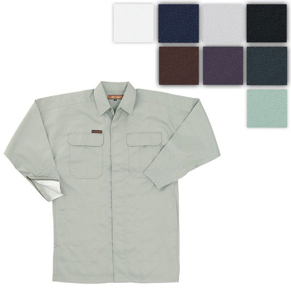 KANTO990S-400 手甲シャツ[社名刺繍無料] 2/ベージュ