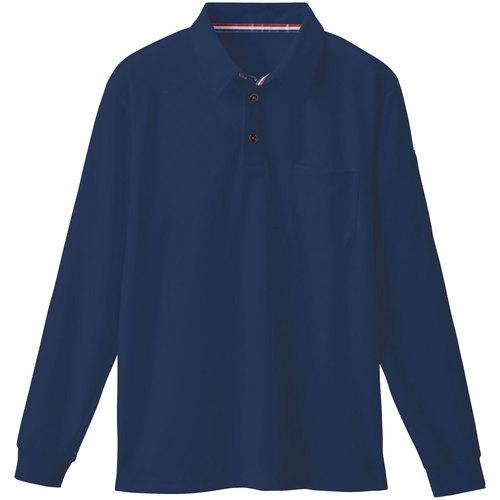 SOWA50130 長袖ポロシャツ 1/ネイビー