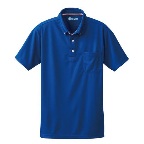 SOWA50391 半袖ボタンダウンポロシャツ 203/ロイヤルブルー