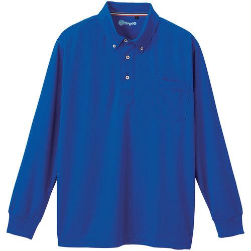 SOWA50394 長袖ボタンダウンポロシャツ 203/ロイヤルブルー