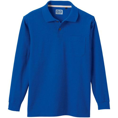 SOWA50590 長袖ポロシャツ 8/ブルー