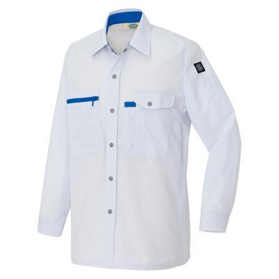 AZ-5365_1 長袖シャツ[社名刺繍無料] カラー:シルバーグレー
