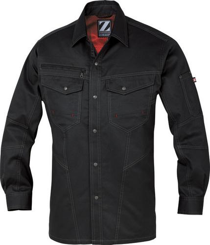DESK75204 Z-DRAGON 長袖シャツ[社名刺繍無料] 131/シックブラック