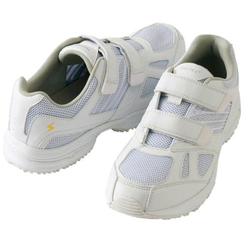 AZ59708 静電室内履きシューズ ホワイト カラー:ホワイト
