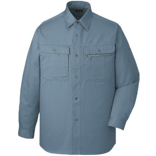 DESK41604 長袖シャツ[社名刺繍無料] カラー:ミストブルー