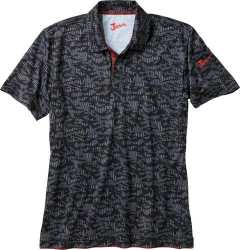 DESK55334 吸汗速乾半袖ポロシャツ 142/ブラックカモフラ