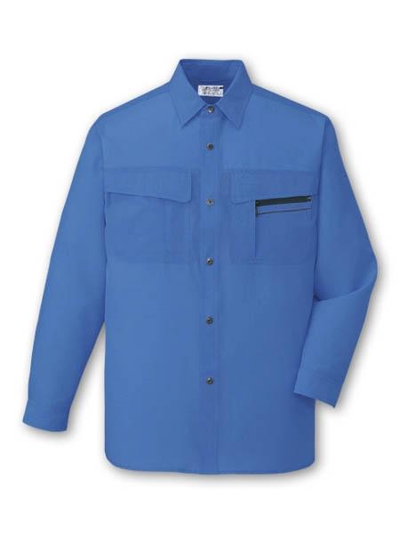 DESK46504_1 長袖シャツ[社名刺繍無料] カラー:ロイヤルブルー
