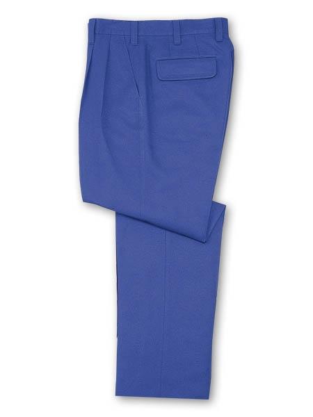 DESKH42501 ツータックパンツ(長身用・丈長ハーフ) カラー:ロイヤルブルー