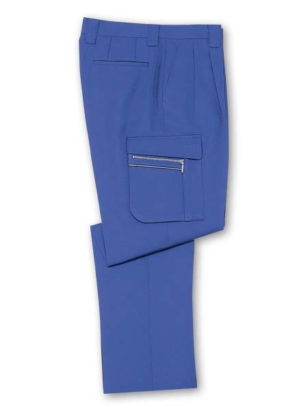 DESKH42502 ツータックカーゴパンツ(長身用・丈長ハーフ) カラー:ロイヤルブルー