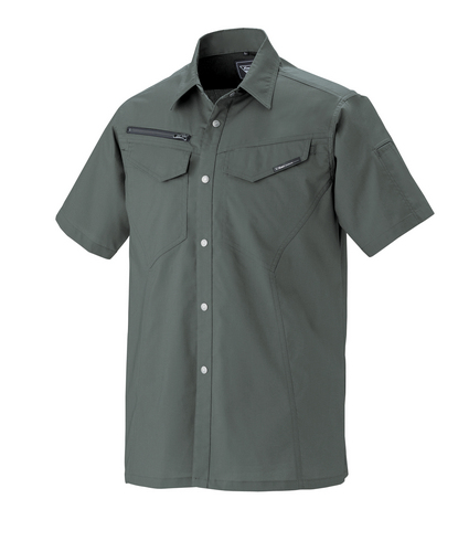 XEB1692 半袖シャツ[社名刺繍無料] 25/チャコールグレー