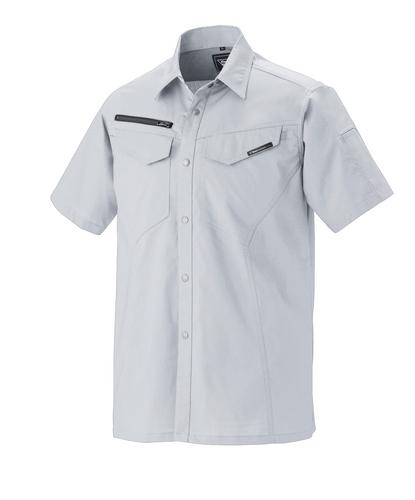 XEB1692 半袖シャツ[社名刺繍無料] 22/シルバーグレー