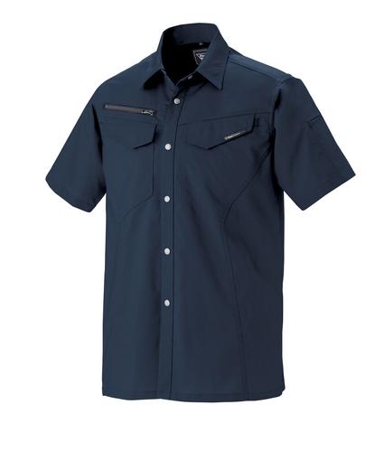 XEB1692 半袖シャツ[社名刺繍無料] 19/ディープネイビー