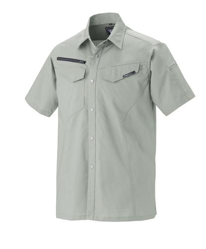 XEB1692 半袖シャツ[社名刺繍無料] 61/モスグリーン