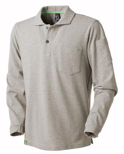 TAKA_GC5007 GRANCISCO(グランシスコ)長袖ポロシャツ 3/シルバー