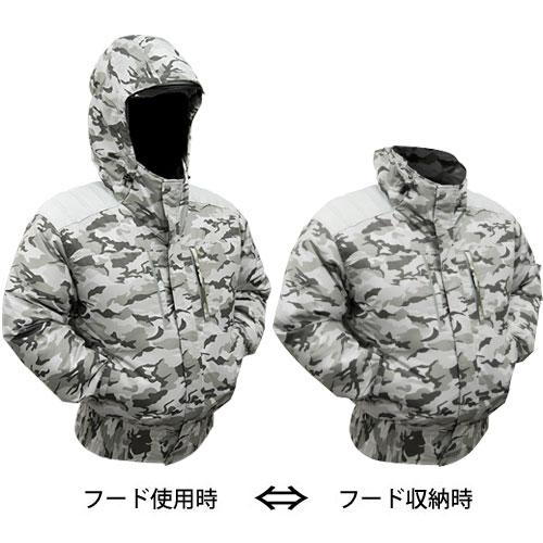 TEKKIN-A (EK1351)剛肩タチエリフードタイプブルゾン[社名刺繍無料] 迷彩グレー