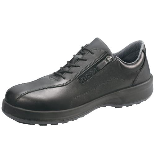 SIMON-8512C シモン安全靴 8512 黒 チャック付き短靴 内側にロック機能付きファスナー