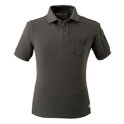 IZFRONTIER605 クールマックス半袖ポロシャツ 10/カーキ