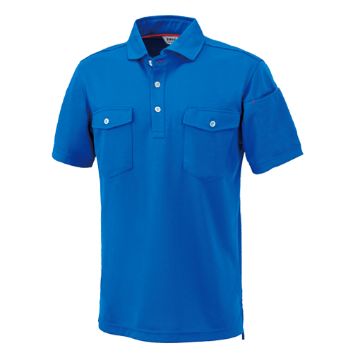 OKW-K24404 KANSAI(24404) 半袖ポロシャツ 4/ブルー