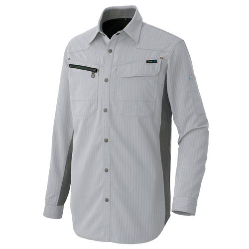 AZ-30635_1 長袖シャツ[社名刺繍無料] 003/シルバーグレー
